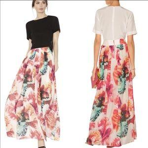 Alice + Olivia Gemna Floral-print Skirt